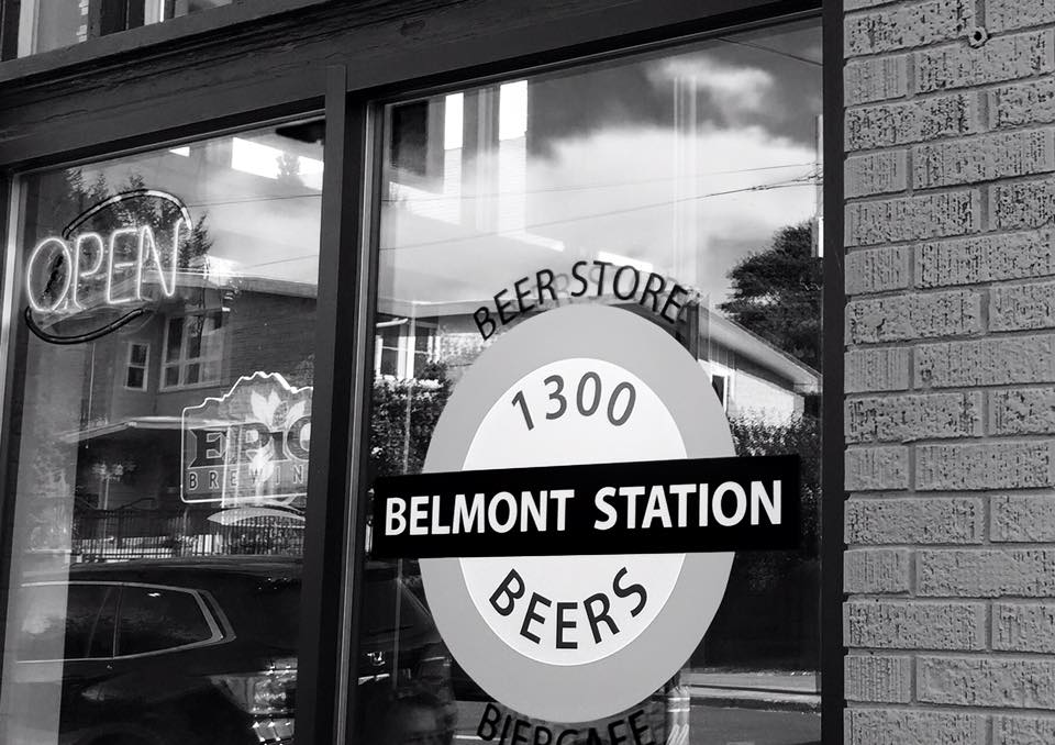 Belmont Station Black and White