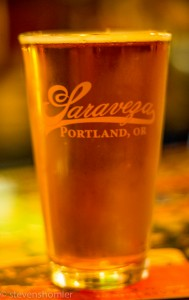 Beer at Saraveza Portland Oregon